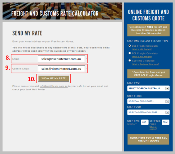 How To Use An Online Freight and Customs Clearance